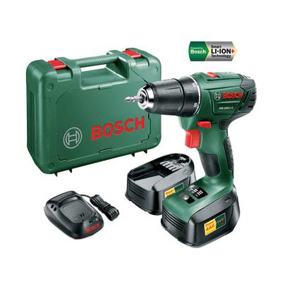 Trapano avvitatore Bosch PSR1800LI-2, 18 V 1,5 Ah, 2 batterie
