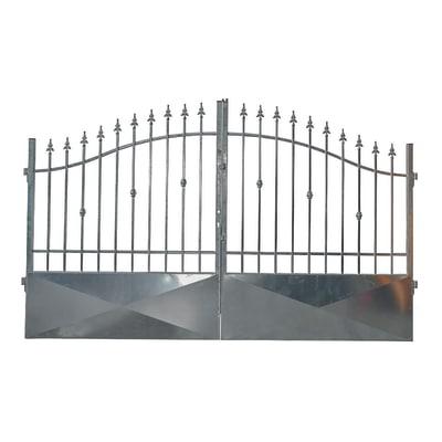 Cancello zincato Stromboli L 300 x H 150/180 cm