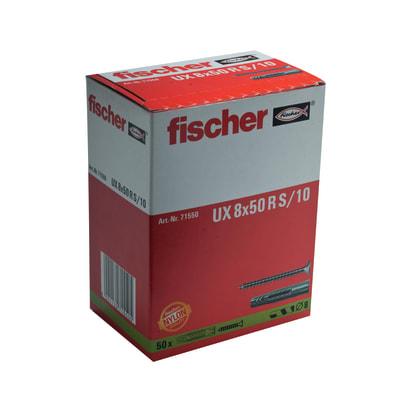 50 tasselli Fischer UX ø 8 x 50  mm con vite