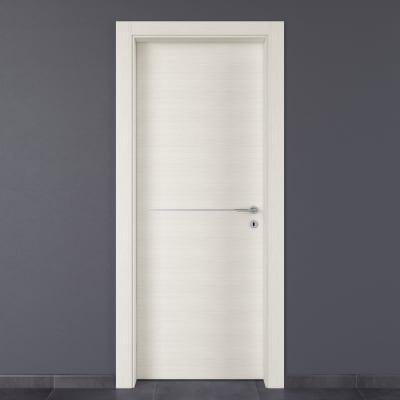 Porta da interno battente Hollow bianco matrix 90 x H 210 cm sx