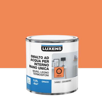 Smalto manounica Luxens all'acqua Arancio Chili 5 opaco 0.5 L