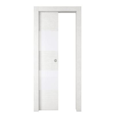 Porta da interno scorrevole Melangè bianco 70 x H 210 cm sx