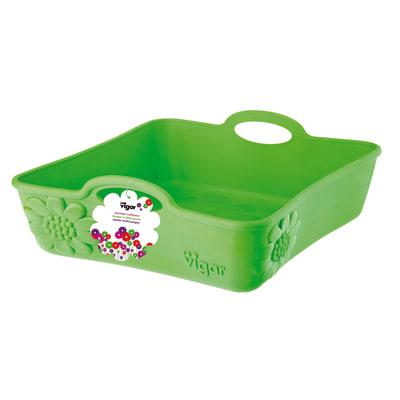 Vaschetta organizer multiuso Kosy verde L 22,5 x P 22,5 x H 8,5 cm