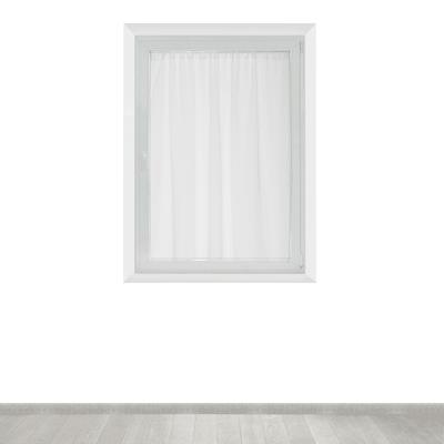 Tendina a vetro per finestra Leo bianco 140 x 120 cm