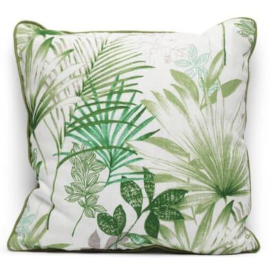 Cuscino grande Palm verde Piping verde retro tinta unita 50 x 50 cm