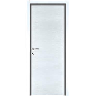 Porta da interno battente Louvre Bianco 90 x H 210 cm sx