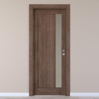 Porta da interno battente Gash tabacco 70 x H 210 cm sx
