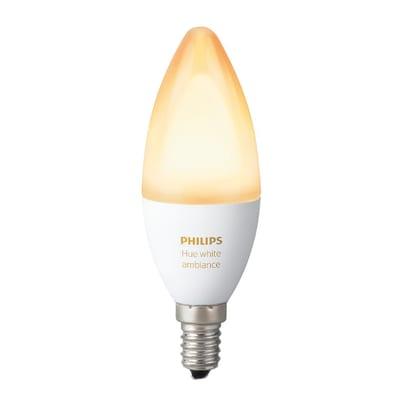 Lampadina smart LED Philips Hue E14 =40W oliva luce CCT 220°