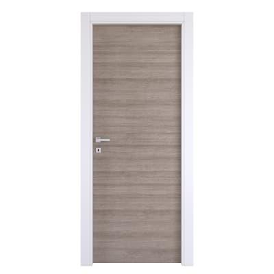Porta da interno battente One grigio/bianco 90 x H 210 cm reversibile