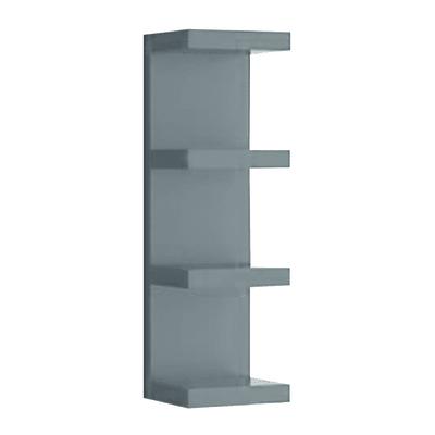 Mensola verticale a pettine Spaceo grigio L 25,5 x P 23,7, sp 2,2 cm