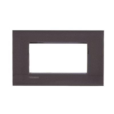 Placca 4 moduli BTicino Livinglight Air peltro