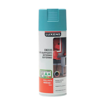 Smalto spray Deco Luxens Blu Atollo 3 brillante 400 ml