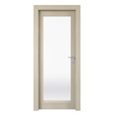 Porta da interno battente Shaula paglia 80 x H 210 cm sx