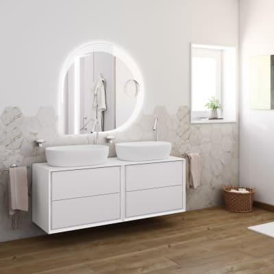 Mobile bagno Bellagio bianco L 141 cm