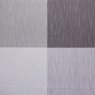 Tovaglia plastificata ad alto spessore Quadri grigio 220 x 140 cm