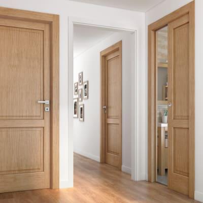Porta da interno battente Bernini rovere miele 60 x H 210 cm dx