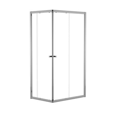 Box doccia scorrevole Dado 67.5-69 x 87,5-89, H 185 cm cristallo 5 mm trasparente/silver