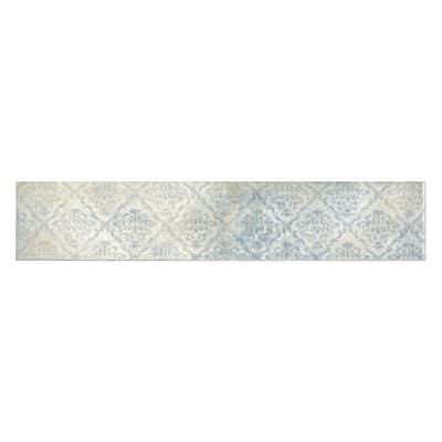 Piastrella Arabesco 7,5 x 38,5 cm azzurro