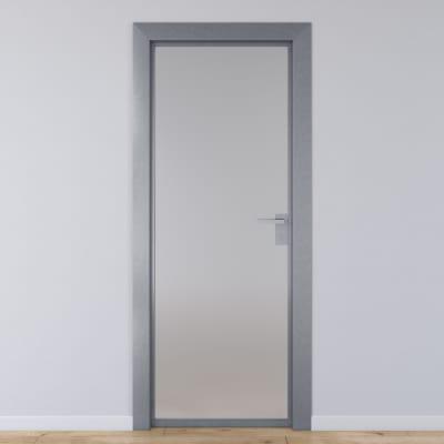 Porta per ufficio battente Office vetro temperato bianco satinato 60 ...