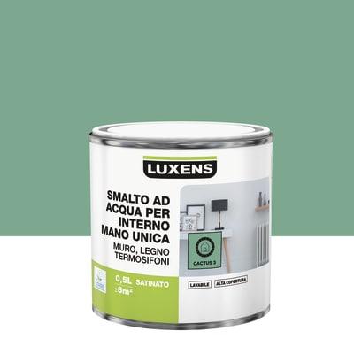 Smalto manounica Luxens all'acqua Verde Cactus 3 satinato 0.5 L