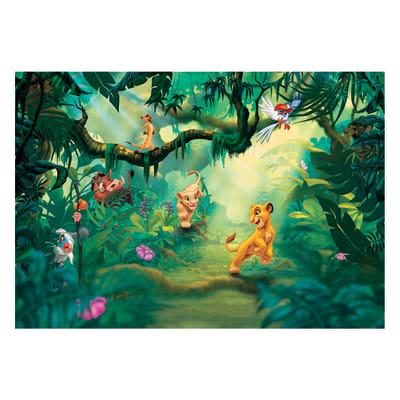Fotomurale Lion king jungle multicolor 368 x 254 cm