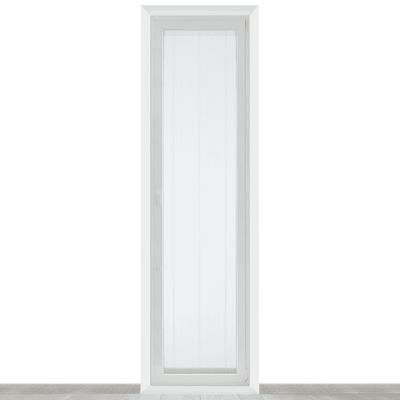 Tendina a vetro per portafinestra Picasso bianco 45 x 240 cm