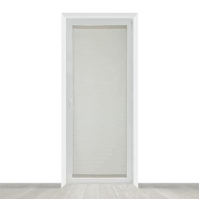 Tendina a vetro per portafinestra Milly bianco e beige 90 x 230 cm