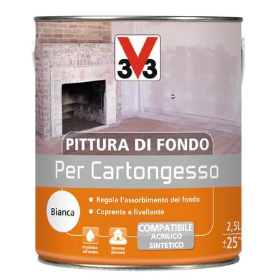 Fondo V33 per cartongesso bianco 2,5 L