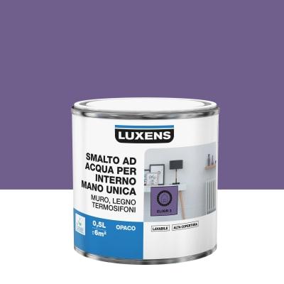 Smalto manounica Luxens all'acqua Viola Elisir 3 opaco 0.5 L