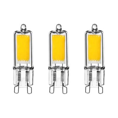 3 lampadine LED Lexman G9 =32W luce naturale 360°