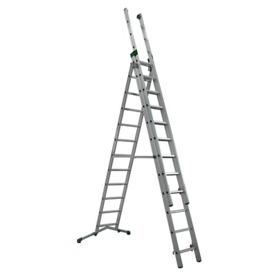 Scala sfilo alluminio Facal 3x12 gradini, per lavori fino a 5,6 m