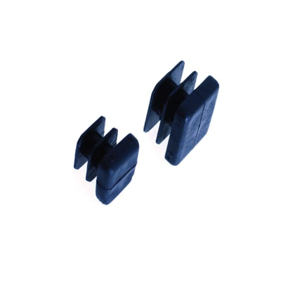 Puntale quadro filettato a L nero 20 x 20 mm