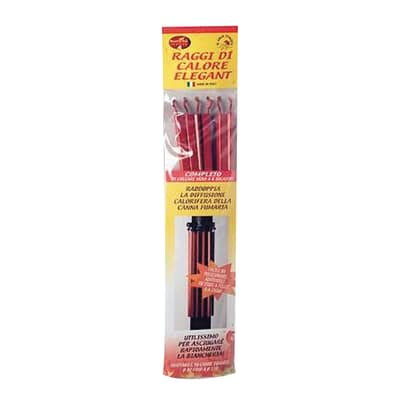Stendibiancheria per stufe a legna e a pellet elegant rosso 15 x 68 x 6 cm 1500 g