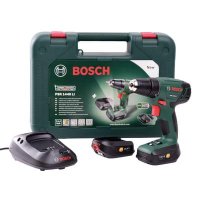 Trapano avvitatore Bosch PSR1440LI, 14,4 V 1,5 Ah, 2 batterie