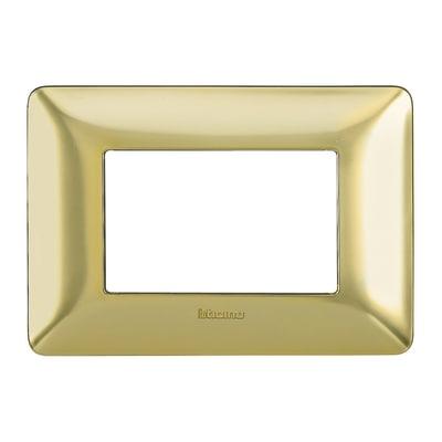 Placca 3 moduli BTicino Matix oro