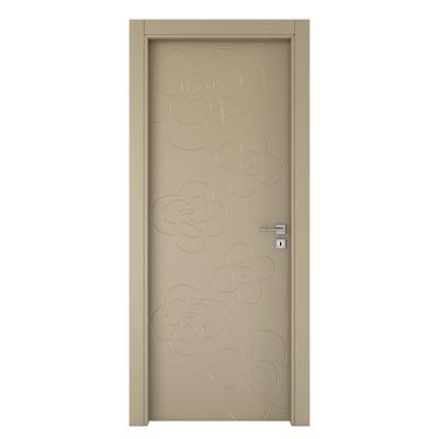 Porta da interno battente Flower taupe tortora 60 x H 210 cm sx