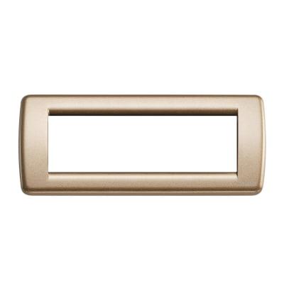 Placca 6 moduli Vimar Idea bronzo metallizzato