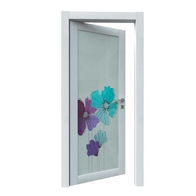 Porta da interno battente Eden larice bianco 60 x H 210 cm sx