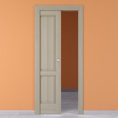 Porta da interno scorrevole Vermeer rovere sbiancato 60 x H 210 cm sx