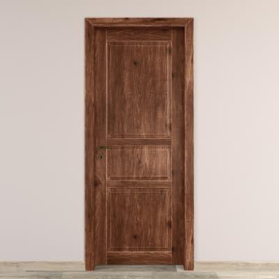 Porta da interno battente Old Town noce sbiancato 70 x H 210 cm reversibile