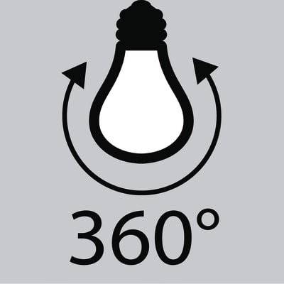 3 lampadine LED Lexman Filamento E27 =60W goccia luce naturale 360°