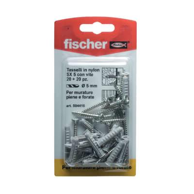 20 tasselli Fischer SX ø 5 x 25  mm con vite