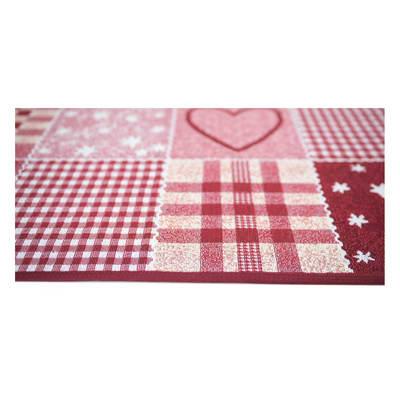 Tappetino cucina antiscivolo Master cuore rosso 50 x 170 cm