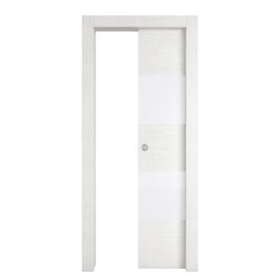 Porta da interno scorrevole Melangè bianco 70 x H 210 cm dx
