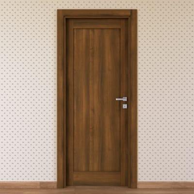 Porta da interno battente Sargas noce 60 x H 210 cm sx