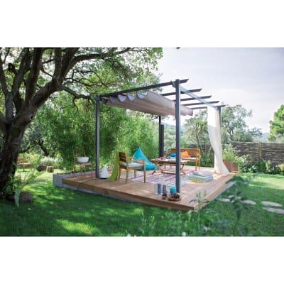 Pergola libera Niagara Premium copertura grigia 4 x 3 m