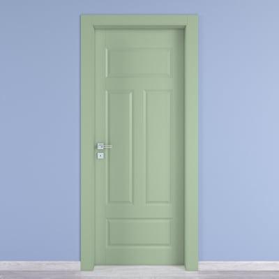 Porta da interno battente Coconut Groove verde 70 x H 210 cm dx