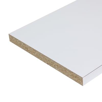 Pannello melaminico bianco 25 x 600 x 2500 mm