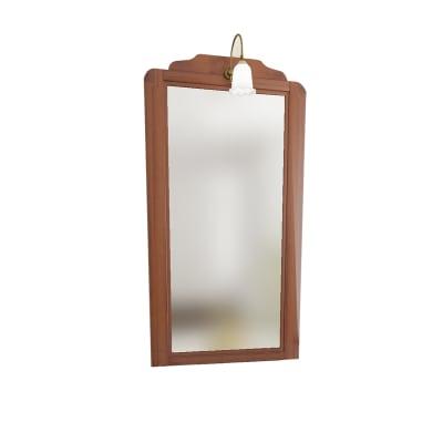 Specchio con faretto Laura noce 60 x 113 cm