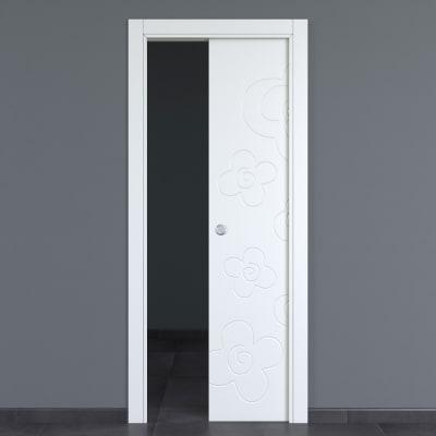 Porta da interno scorrevole Flower silk 80 x H 210 cm reversibile
